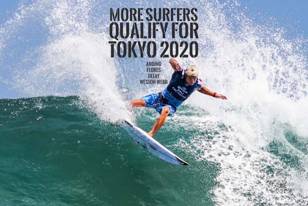 4 More Surfers Qualify for Tokyo 2020